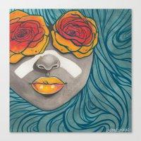 indigo Canvas Prints featuring Indigo by Stefari