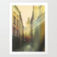 stockholm Art Prints featuring Stockholm by Viviana Gonzalez