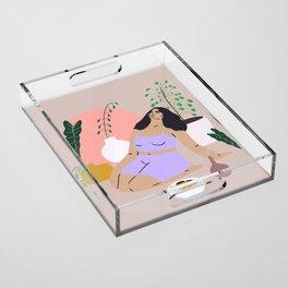self Acrylic Tray