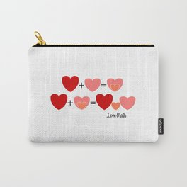 Love math, cute way to announce a pregnancy to your partner, funny baby reveal Carry-All Pouch
