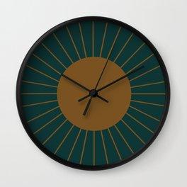Minimal Sunrays - Teal Wall Clock