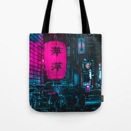 Japanese Cyberpunk Tote Bag