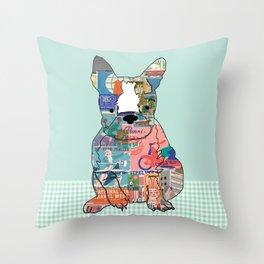 Boston Terrier Collage Throw Pillow