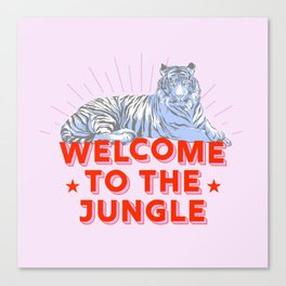welcome to the jungle - retro tiger Canvas Print