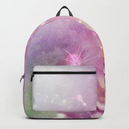Wonderful flowers in soft purple colors Backpack