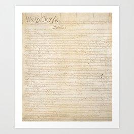 Constitution Art Print