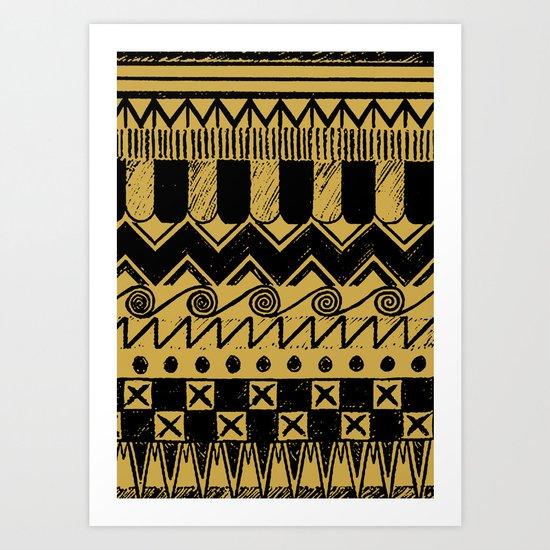 Aztec Egypt Art Print