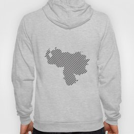 Venezuelan striped map - black Hoody