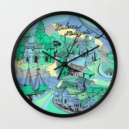 Malacca, Malaysia Heritage Wall Clock