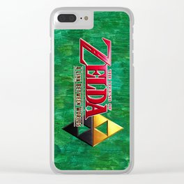 THE LEGEND OF ZELDA BW Clear iPhone Case