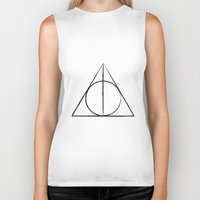 deathly hallows Biker Tanks featuring The Deathly Hallows by A. Design