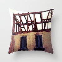 building Throw Pillows featuring Building by PerfectPixel
