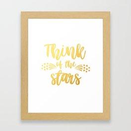 Think of the Stars Framed Art Print