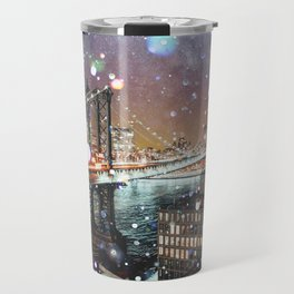 New York City Lights Manhattan Rooftop City Views Travel Mug