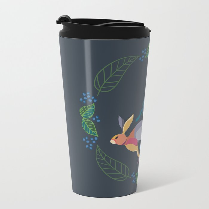 Rabbits Metal Travel Mug