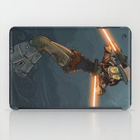 bouletcorp iPad Cases featuring LaserGirl by Bouletcorp