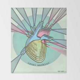 HEART Great Machine Throw Blanket