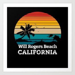 Will Rogers State Beach CALIFORNIA Art Print