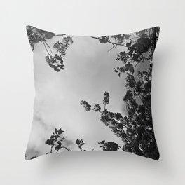 spring black & white Throw Pillow