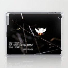 Sakura flowers on black 03 Laptop & iPad Skin