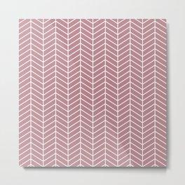 rose pink chevrons Metal Print