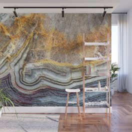 Crazy lace agate extreme closeup Wall Mural