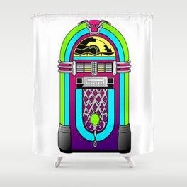 jukebox music music player Shower Curtain