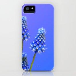 Grape Hyacinth Blue iPhone Case