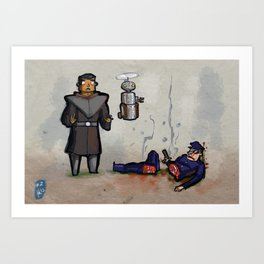 Use Verb on Noun #2: Beneath a Steel Sky Art Print