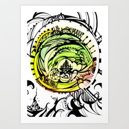 Compass Journey Art Print