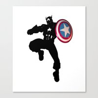 captain Canvas Prints featuring Captain by Crayle Vanest