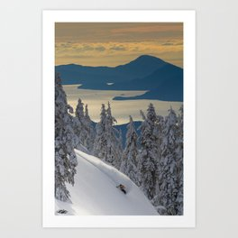 LIMITED EDITION (Almost sold out)  - KEVIN SANSALONE / HOWE SOUND SQUAMISH BC Art Print