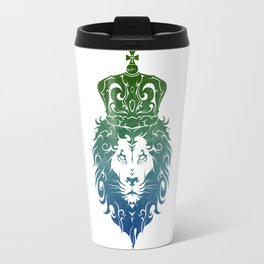 Tribal King Lion (GreenBlue) Travel Mug