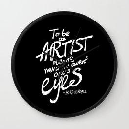 To be an artist... Akira Kurosawa  Wall Clock