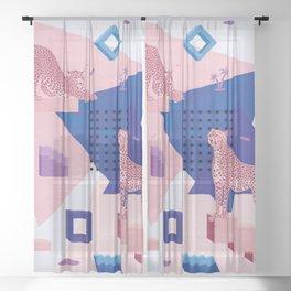 Cheetahs in Memphis I. Sheer Curtain