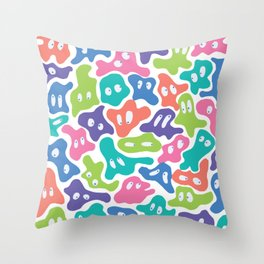 Neon Blobs Throw Pillow