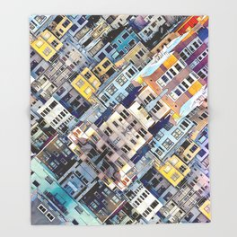 Apartments In The City Throw Blanket