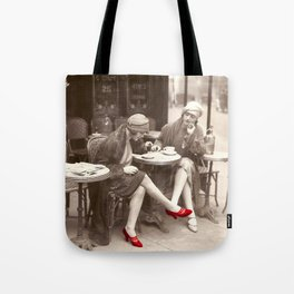 New Red Shoes Vintage Paris Photo Tote Bag