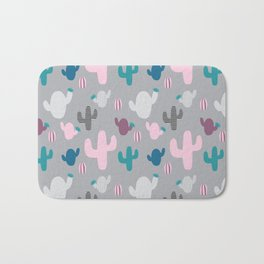 Cactus pink and grey #homedecor Bath Mat