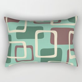 Mid Century Modern Abstract Squares Pattern 425 Rectangular Pillow