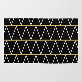 Black and gold zigzag Rug