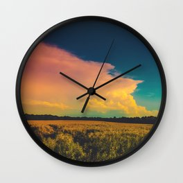Saturated Sky Wall Clock