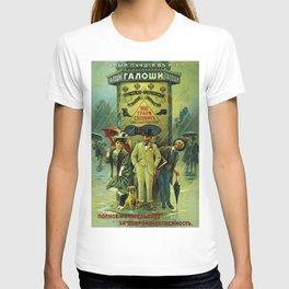 Vintage Russian Galoshes Advertisement T-shirt