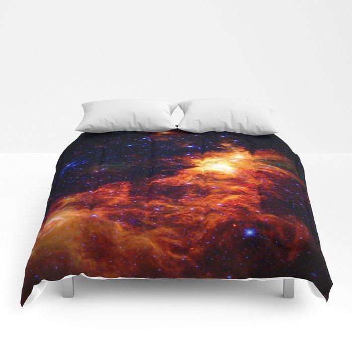 Fiery gAlAXy Indigo Stars Comforters