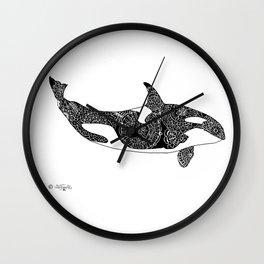 Flying  Orca Wall Clock