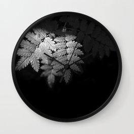Ferns on Black Wall Clock