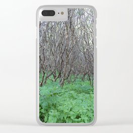 Lost in the thicket Clear iPhone Case