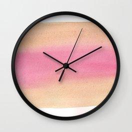 Peach Sandwich Wall Clock