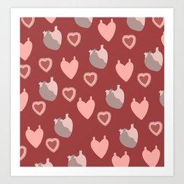 An Ardent Heart Art Print