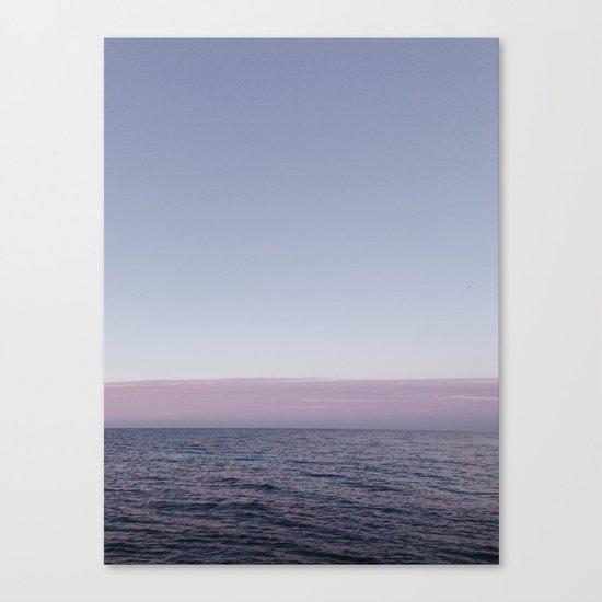 Calm sea before sunrise Canvas Print